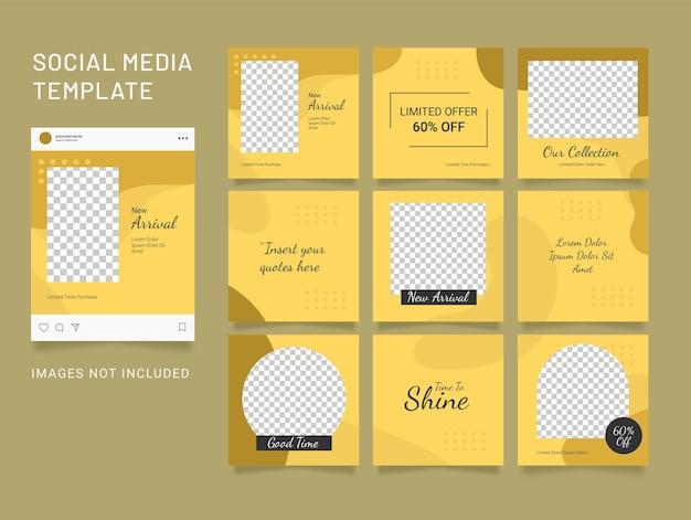 Modèle de publication instagram puzzle de médias sociaux