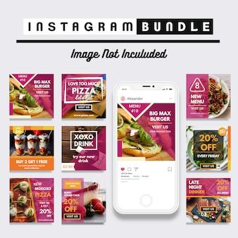 Modèle de publication instagram de remise alimentaire