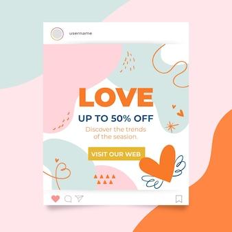 Modèle de publication instagram saint valentin