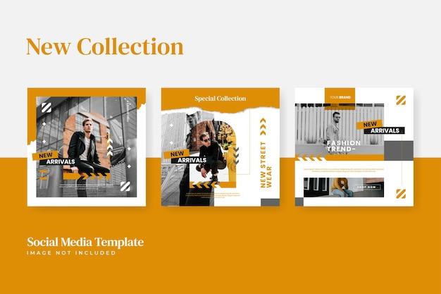 Modèle de publication instagram de vente de mode urbaine