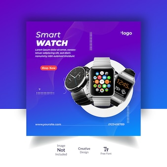 Modèle de publication instagram de vente de montre intelligente ou de publication sur les réseaux sociaux