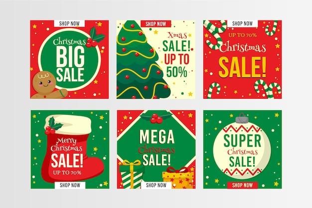 Modèle de publication instagram de vente de noël
