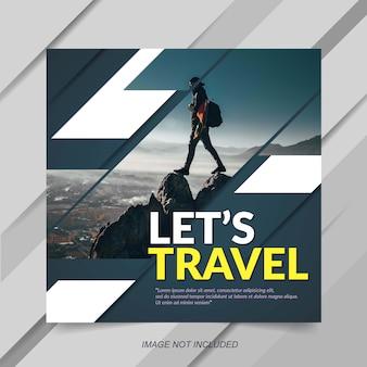 Modèle de publication instagram de vente de voyage moderne
