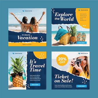 Modèle de publication instagram de vente de voyage