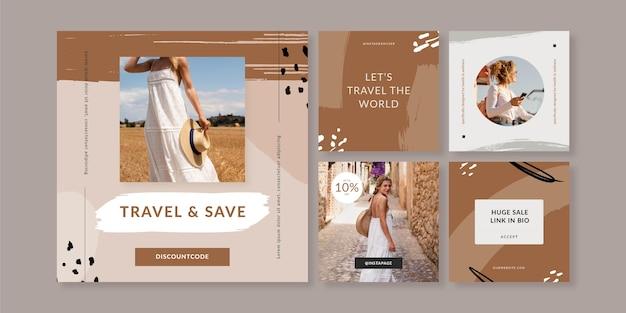Modèle de publication instagram de voyage