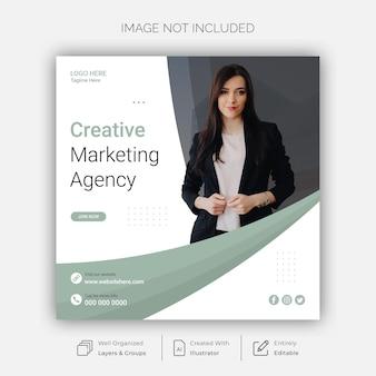 Modèle de publication de marketing créatif et de médias sociaux d'entreprise
