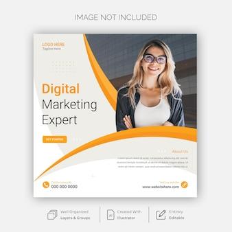 Modèle de publication de marketing numérique et de médias sociaux d'entreprise