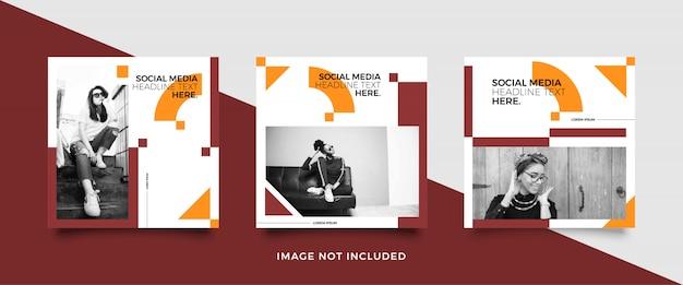 Modèle de publication de média social minimaliste