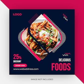 Modèle de publication sur les médias sociaux alimentaires