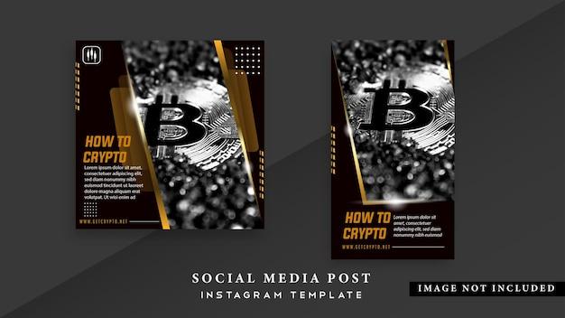 Modèle de publication sur les médias sociaux crypto currency