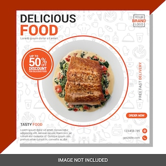 Modèle de publication de médias sociaux culinaires