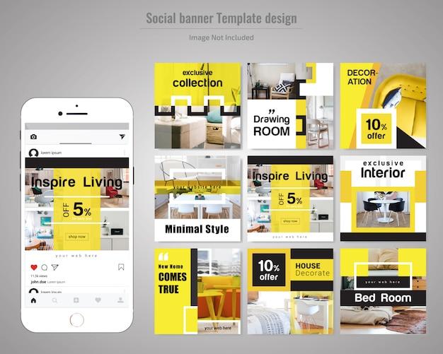 Modèle de publication de médias sociaux dans l'immobilier
