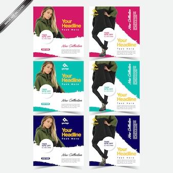 Modèle de publication sur les médias sociaux dans le marketing numérique