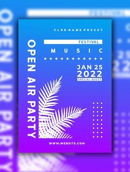 Modèle de publication sur les médias sociaux de flyer d'événement de musique dj