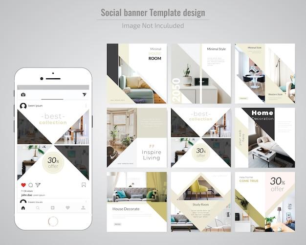 Modèle de publication sur les médias sociaux immobiliers