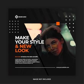 Modèle de publication sur les médias sociaux instagram de mode moderne