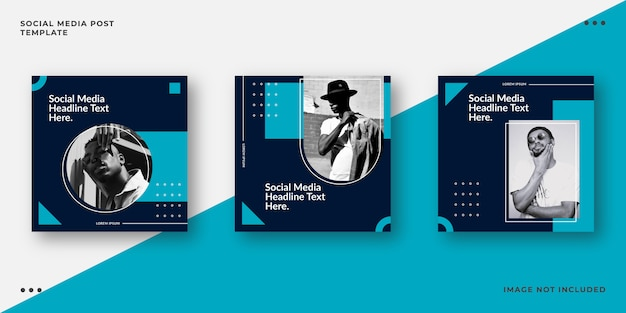 Modèle de publication de médias sociaux marine minimaliste