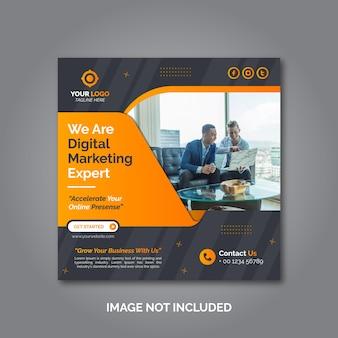 Modèle de publication sur les médias sociaux de marketing d'entreprise créative