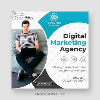 Modèle de publication sur les médias sociaux de marketing numérique moderne
