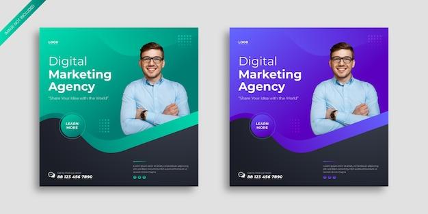 Modèle de publication sur les médias sociaux de marketing numérique