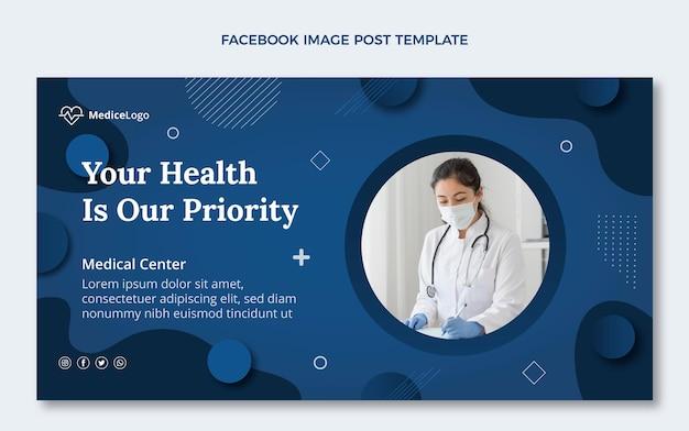 Modèle de publication de médias sociaux médicaux plats