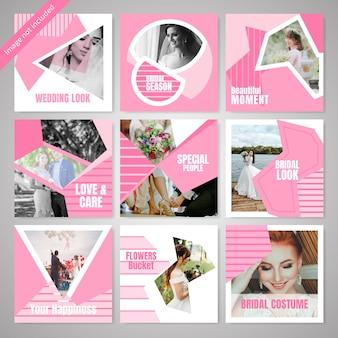Modèle de publication sur les médias sociaux à la mode