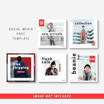 Modèle de publication sur les médias sociaux de mode