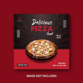 Modèle de publication sur les médias sociaux pizza food