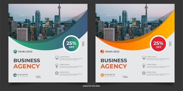 Modèle de publication sur les médias sociaux pour agence numérique