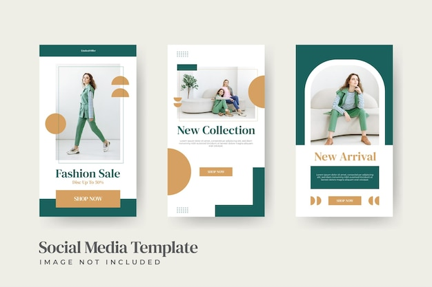 Modèle de publication sur les médias sociaux pour femme de vente de mode instatory minimaliste