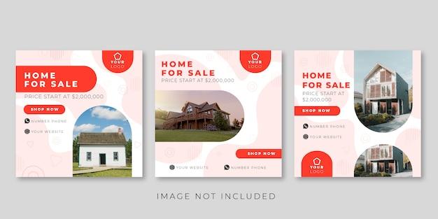 Modèle de publication de médias sociaux pour la maison à vendre