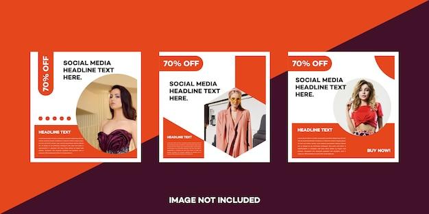 Modèle de publication sur les médias sociaux premium