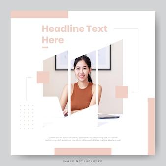 Modèle de publication sur les médias sociaux de promotion minimaliste