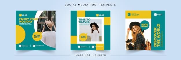 Modèle de publication de médias sociaux sur le temps de déplacement