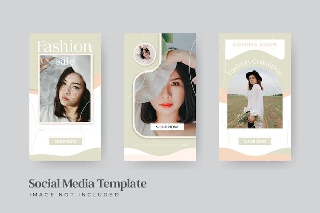 Modèle de publication de médias sociaux de vente de mode instatory minimaliste