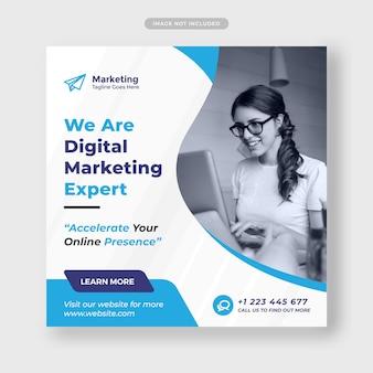 Modèle de publication sur les médias sociaux de vente numérique premium