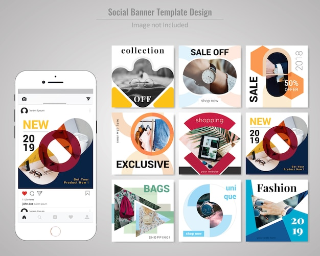 Modèle de publication de médias sociaux sur la vente de produits