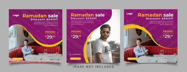 Modèle de publication sur les médias sociaux de vente ramadhan