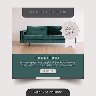 Modèle de publication de meubles sur les réseaux sociaux