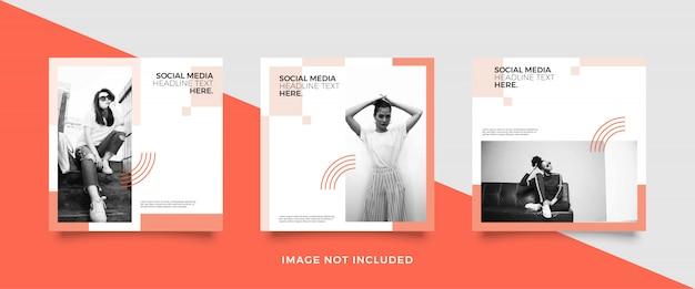 Modèle de publication minimaliste sur les médias sociaux