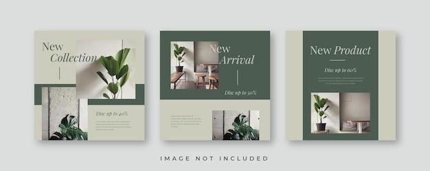 Modèle de publication minimaliste sur les réseaux sociaux instagram