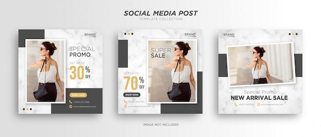 Modèle de publication minimaliste sur les réseaux sociaux