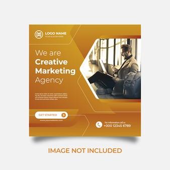 Modèle de publication sur les réseaux sociaux agence commerciale créative de marketing numérique
