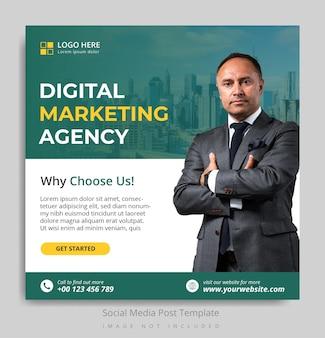 Modèle de publication sur les réseaux sociaux d'une agence de marketing numérique