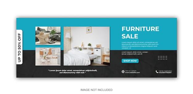 Modèle de publication sur les réseaux sociaux de bannière de meubles