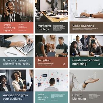 Modèle de publication sur les réseaux sociaux avec concept d'entreprise