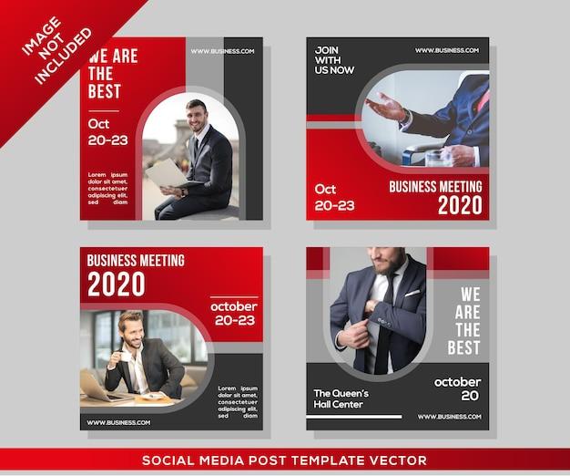 Modèle de publication sur les réseaux sociaux d'entreprise et d'entreprise