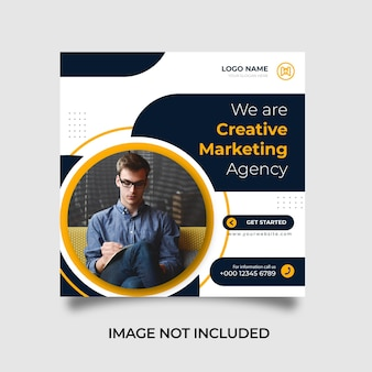 Modèle de publication sur les réseaux sociaux et instagram d'une agence de marketing numérique