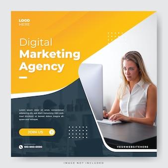 Modèle de publication sur les réseaux sociaux instagram de l'agence de marketing numérique