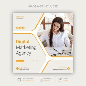 Modèle de publication sur les réseaux sociaux et instagram de marketing numérique